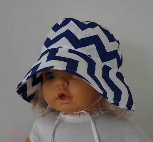 Letní plátěný klobouček - obvod 50 cm