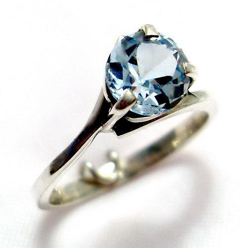 Prsten «Angie» - stříbro 925/1000, modrý topaz