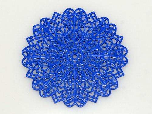 měděné kolečko- modré