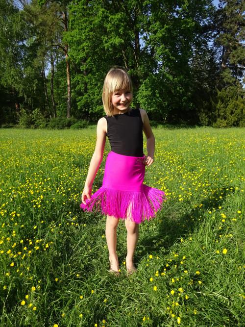 Třásničková sukně FUCHSIOVÁ