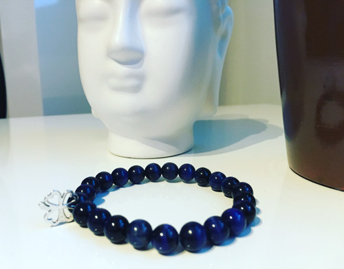 Náramek Lapis Lazuli se čtyřlístkem