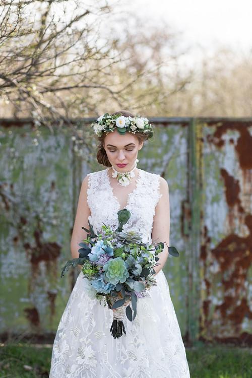 """Greenery svatební kytice \""""jako pouštní květ\"""""""