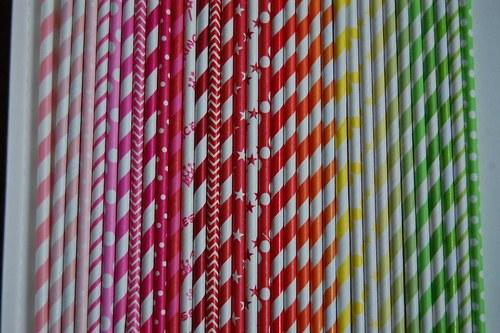 Papírová brčka /100ks/- barvy dle výběru