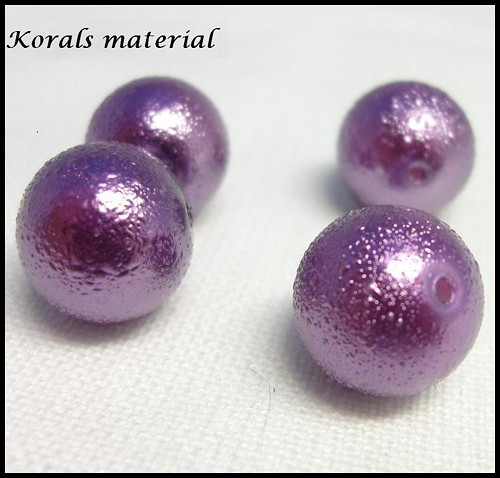 2154 Voskované perly/12mm /4 ks/ FIALOVÁ