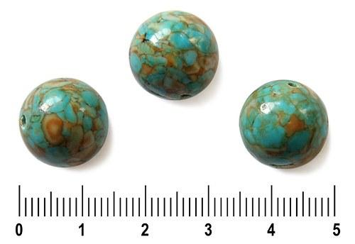 Tyrkenitová barvená kulička, 14 mm, 1 ks