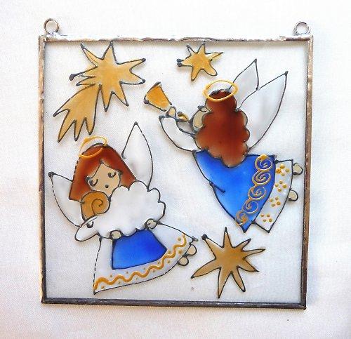Vánoční malovaná vitráž