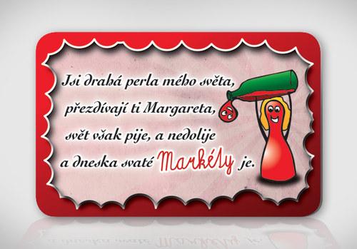 Poetická magnetka se jménem Markéta