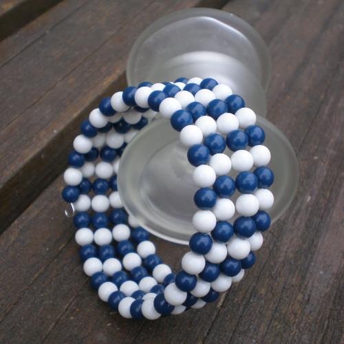 Pro námořnici – náramek z retro korálků