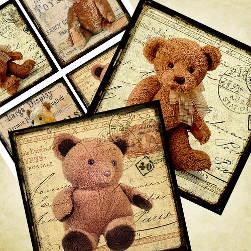 Nažehlovací obrázky- Medvídci - 4 ks