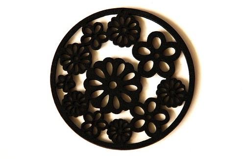 dřevěná kolečka- černá
