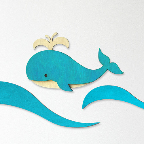 Velryba (design II) - dekorace na zeď