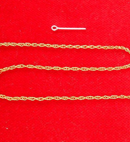 řetízek, galva zlato 1m