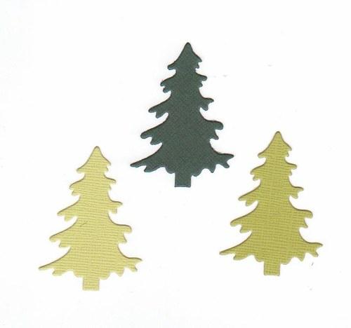 Jehličnaté stromky - zelené (3 ks)