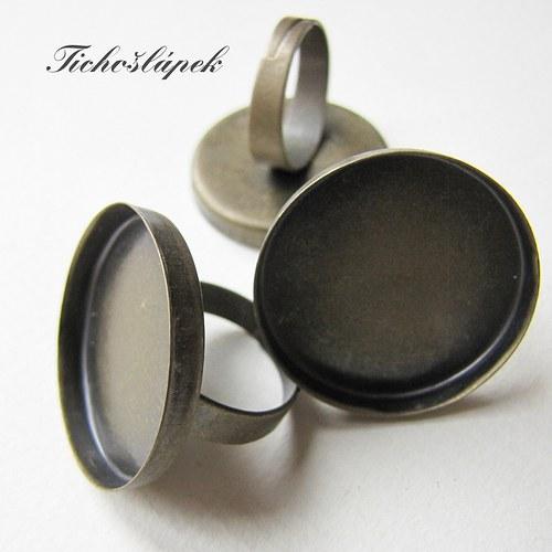 prsten - lůžko - starobronz (LP011)