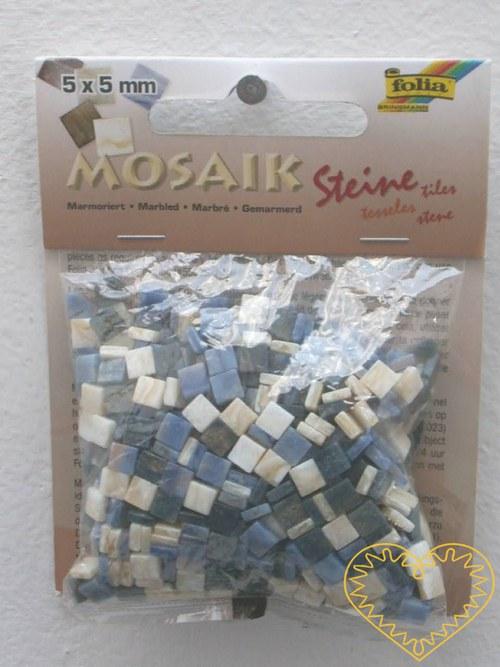 Modrá mramorová pryskyřicová mozaika - 45 g