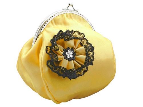 Společenská dámská kabelka žlutá 12702A