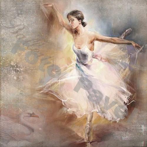Vintage motiv - baletka 2