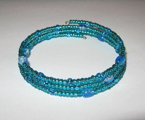 Náramek tyrkysovo-modrý