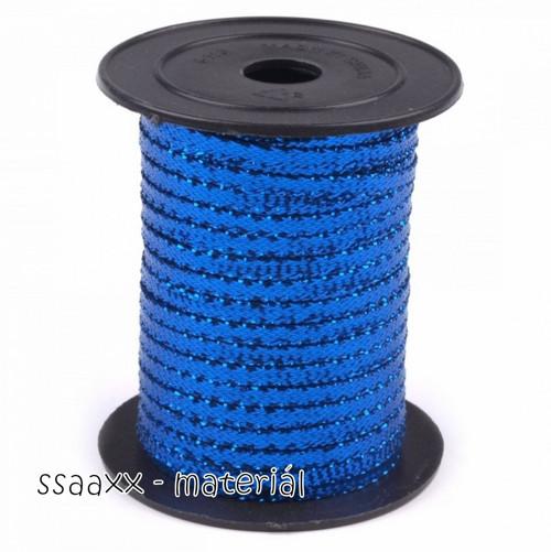 Dekorační stuha s lurexem ~ 3 mm ~ 2m ~ modrá