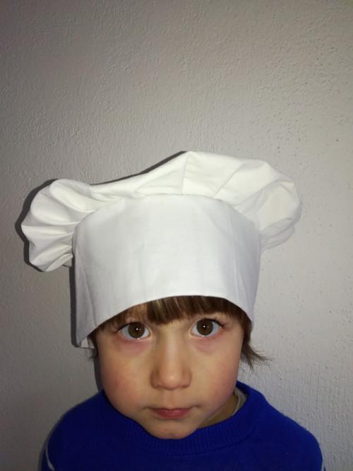 Kuchařská čepice pro děti bílá