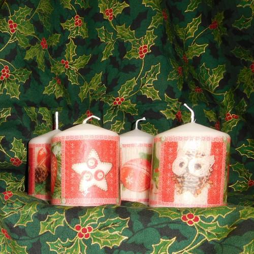 Vánoční svíčky  - sada 4 kusů