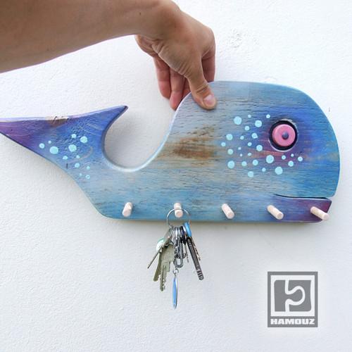 Velryba - věšák nejen na klíče