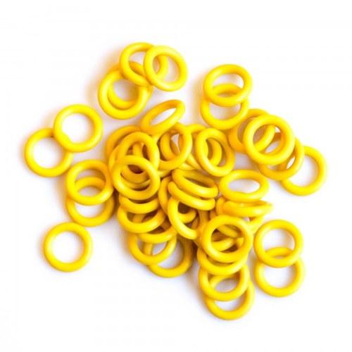 Gumové 6,4/1,7 50 ks Žluté