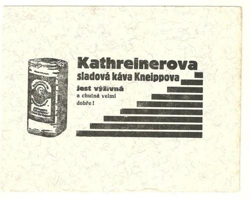 Reklamní savý papír piják Kathreiner káva