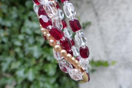 Voda a oheň...skleněný náhrdelník, Jablonecko