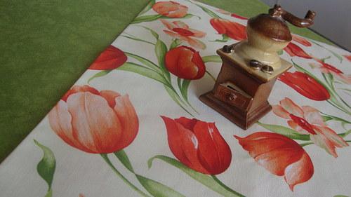 Ubrusy - červený tulipán