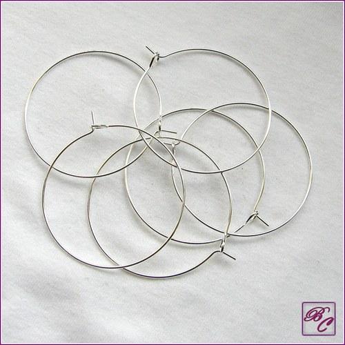 Kreole, kroužky na náušnice, 35mm (1pár) (K0012)