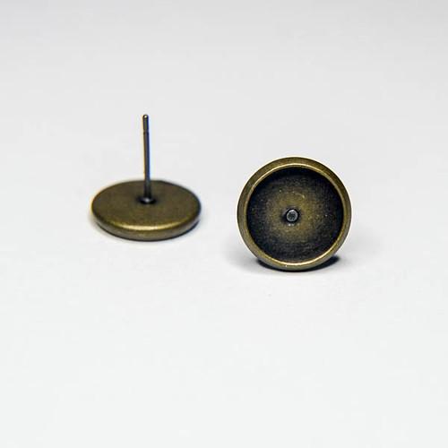 Puzety s lůžkem 10mm - mosazné