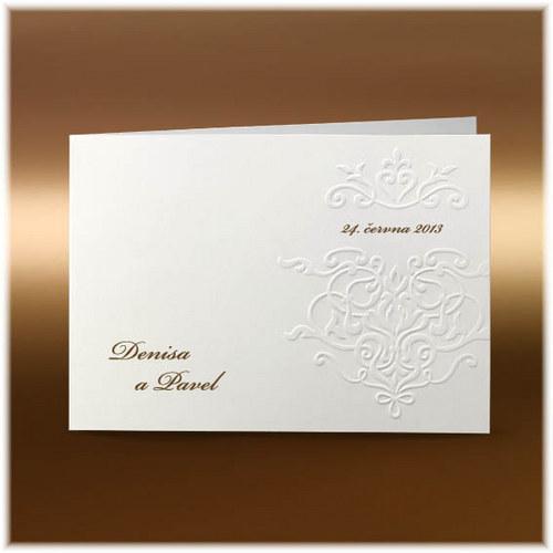 Jednoduché svatební oznámení s ornamentem