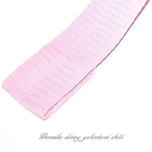 Popruh POP 3 cm - růžová