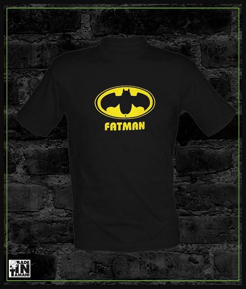 Tričko černé Fatman hero
