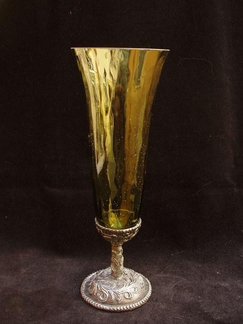 sklenice na víno - s motivem fantasy květina
