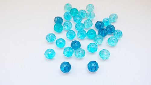 modré rondelky mix 36 ks
