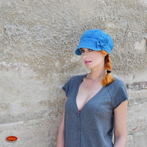 bekovka s mašlí jaro/léto - sytě modrá