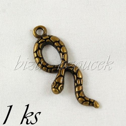 Nebezpečný had, bronzová barva - 1ks