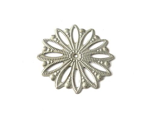 2902300/Filigránová květina platina, 1 ks