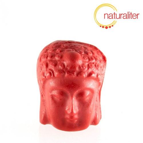Hlava Buddhy - lakovaný korálek 24x20x18mm