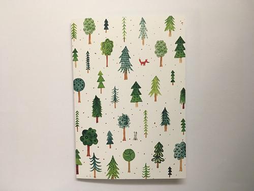Otevírací přáníčko les.