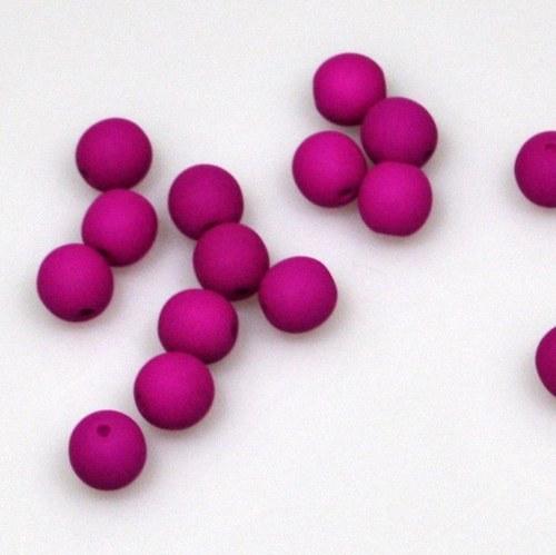 Neonové korálky 50 ks / 6 mm / fialové