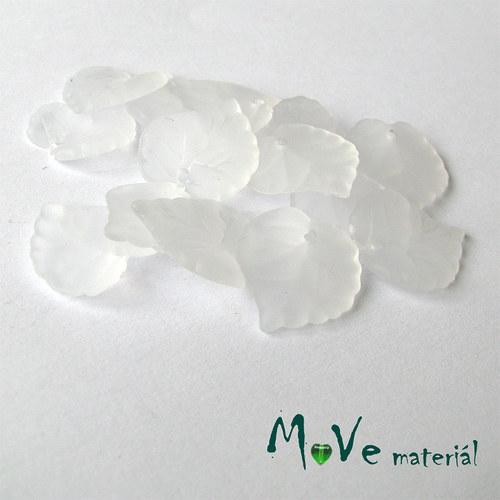 Akrylové transparentní lístečky, 15ks, bílé