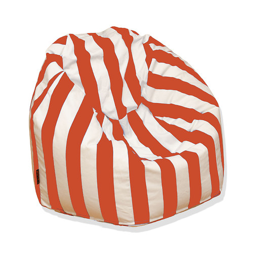 Tradiční sedací vak oranžovobílý
