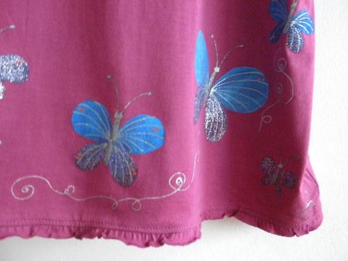 Mladistvé tričko na ramínka Motýlci