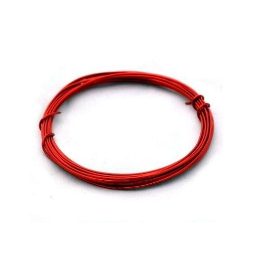 Lakovaný měděný drát 0,3 mm - návin 5 m - červený