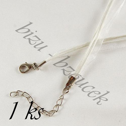 Bílý náhrdelník - 1ks