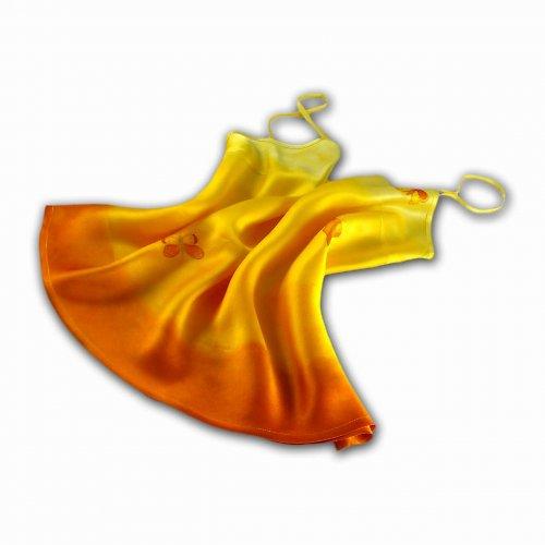 Žluto-oranžové tílko s motýly (sleva)