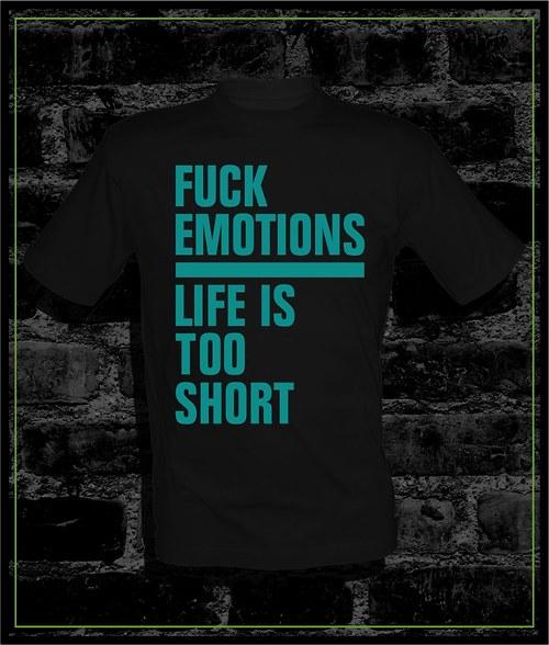 Pánské černé tričko Fuck Emo.